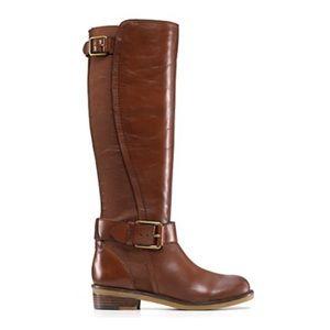 Lucky Brand Aida Riding Boots Brown Cognac 8